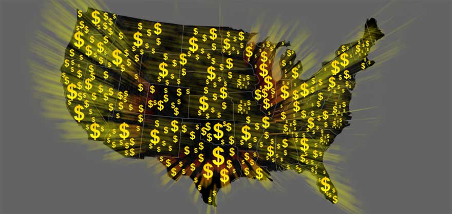 map of usa private money lenders